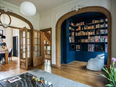 soggiorno, biblioteca